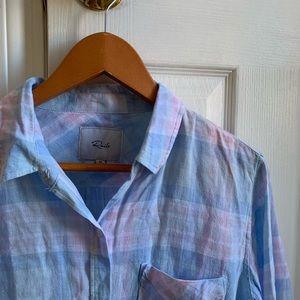 Rails Tops - FINAL PRICE rails charli button down shirt aqua